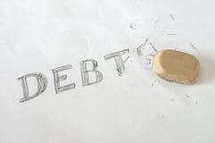 Задолженности стирания с ластиком Стоковое Изображение