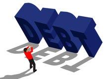 Задолженность и бизнесмен иллюстрация штока