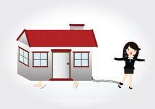 Задолженность дома Стоковые Изображения RF