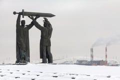 Зад памятника к фронту стоковые фотографии rf