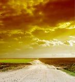 за путем горизонта Стоковые Фото