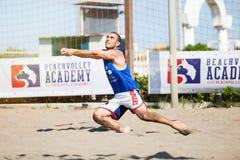 залп спорта charactetrs шаржа пляжа смешной Итальянская лига лета стоковые фотографии rf