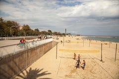 залп спорта charactetrs шаржа пляжа смешной Стоковое Фото
