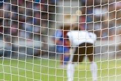 за сетью голкипера футбола Стоковое Изображение RF