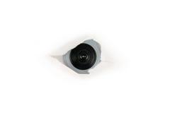 за сетью шпионки бумаги отверстия глаза кулачка Стоковое фото RF