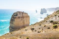 За скалами на 12 Apostels на большой дороге океана, Виктория, Австралия Стоковые Изображения