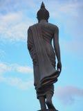 За статуей Будды в виске Стоковая Фотография RF