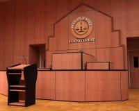 Зал судебных заседаний, закон, тяжба, судебный процесс, суждение стоковые фото