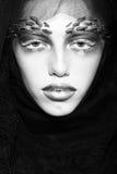 Задумчивая женщина в вуали Стоковое фото RF