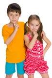Задумчивые дети Стоковая Фотография RF