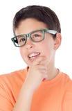 Задумчивый мальчик подростка 13 Стоковая Фотография RF