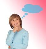 Задумчивый мальчик preteen Стоковое Фото