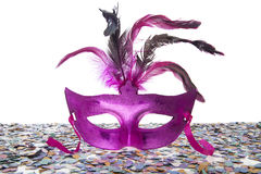 За фиолетовой маской Стоковое Изображение RF