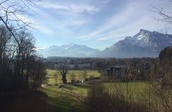 Зальцбург и горы Стоковое Фото