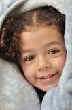 за девушкой одеяла Стоковая Фотография RF