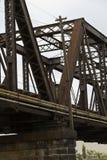 за railway железной дороги горизонта расстояния моста протягивая следы Стоковые Фото