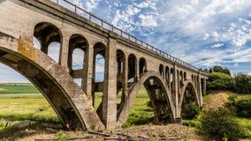 за railway железной дороги горизонта расстояния моста протягивая следы Стоковое Изображение RF