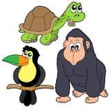 звеец собрания 4 животных бесплатная иллюстрация