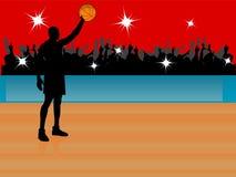 звезда баскетбола Стоковая Фотография