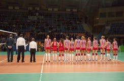 Звезда Белград Сербия команды волейбола красная Стоковое Изображение