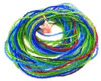 звезда браслета шарика цветастая изолированная Стоковые Фото