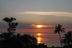 Звезда вечера Заход солнца океана тропический Стоковая Фотография RF