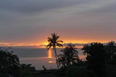 Звезда вечера Заход солнца океана тропический Стоковое Фото