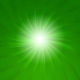 звезда взрыва зеленая Стоковое фото RF