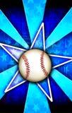 звезда взрыва сини бейсбола Стоковое фото RF