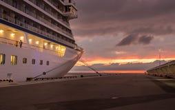 Звезда Викинга на заходе солнца в Санкт-Петербурге Стоковое Изображение