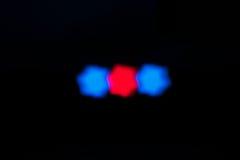 звезда голубых светов красная форменная Стоковые Изображения RF