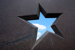 звезда гранита рамки Стоковое Изображение RF