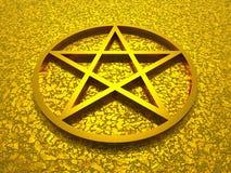звезда Давида золотистая иллюстрация штока