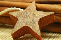 звезда деревянная Стоковое Изображение