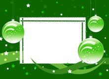 звезда зеленого цвета рамки шариков предпосылки Стоковая Фотография RF