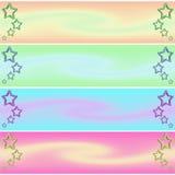 звезда знамени иллюстрация вектора