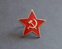 звезда значка красная советская Стоковые Фотографии RF