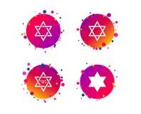 Звезда значков Дэвида символ Израиля вектор иллюстрация штока