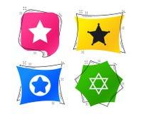 Звезда значков Дэвида символ Израиля вектор иллюстрация вектора
