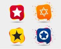 Звезда значков Дэвида символ Израиля Стоковое Фото