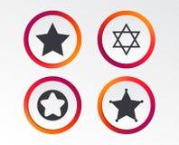 Звезда значков Дэвида символ Израиля Стоковые Фотографии RF
