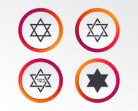 Звезда значков Дэвида символ Израиля иллюстрация вектора