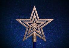 звезда золота рождества Стоковые Изображения RF