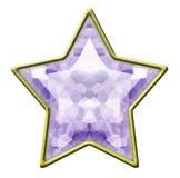 звезда изолированная диамантом стоковые изображения rf