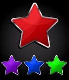 звезда иконы кнопки лоснистая иллюстрация вектора