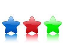 звезда иконы цвета Стоковое Изображение RF