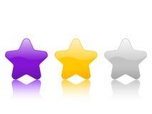 звезда иконы 2 цветов Стоковые Изображения RF