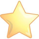 звезда иконы Стоковые Фотографии RF