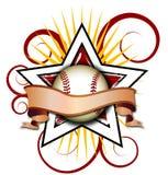 звезда иллюстрации бейсбола swirly Стоковое Изображение RF