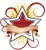 звезда иллюстрации swirly Стоковые Фотографии RF